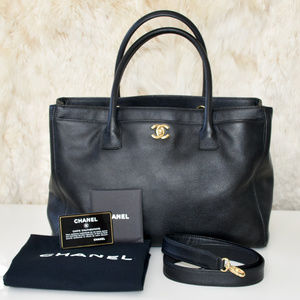 CHANEL Large Executive Tote Bag Caviar Leather